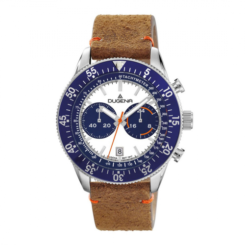 DUGENA Dakota Chrono 4460885 Herrenuhr Lederband Limited Edition im Retro-Style.